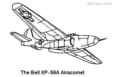 Drawing; Bell XP-59A Airacomet